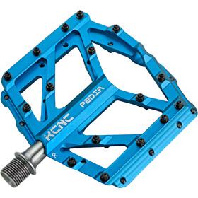 KCNC Pedia 2 Slim Plattformpedale für MTB/BMX blue